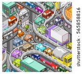 heavy traffic reported on... | Shutterstock .eps vector #565858816