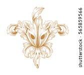 vintage baroque ornament retro... | Shutterstock .eps vector #565859566