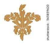 vintage baroque ornament retro... | Shutterstock .eps vector #565859620