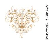 vintage baroque ornament retro... | Shutterstock .eps vector #565859629