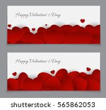 valentine's day heart card love ... | Shutterstock . vector #565862053