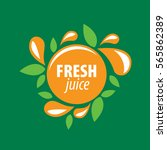 juice splash vector sign | Shutterstock .eps vector #565862389