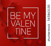 valentine's day heart symbol.... | Shutterstock . vector #565863130