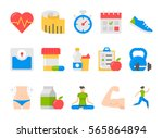 vector fitness health and sport ... | Shutterstock .eps vector #565864894