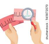 look on atrial fibrillation... | Shutterstock .eps vector #565872070