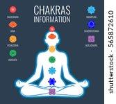 chakras information on white... | Shutterstock .eps vector #565872610