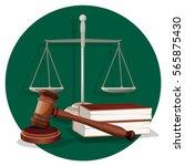 judge wooden gavel  grey scale... | Shutterstock .eps vector #565875430