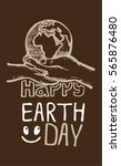 save earth or go green earth... | Shutterstock .eps vector #565876480