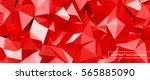 red 3d crystal glass with... | Shutterstock .eps vector #565885090