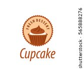 vector logo cupcake  fresh... | Shutterstock .eps vector #565888276