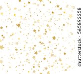 seamless pattern with gold stars | Shutterstock .eps vector #565893358