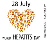 world hepatitis day 28 july... | Shutterstock . vector #565895149