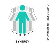 symbol of team  teamwork ... | Shutterstock .eps vector #565896040