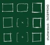vector set of chalk sketch... | Shutterstock .eps vector #565899040