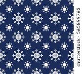 christmas snowflakes seamless... | Shutterstock . vector #565899763