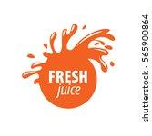 juice splash vector sign | Shutterstock .eps vector #565900864