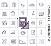 calculator and pen icon vector  ...   Shutterstock .eps vector #565900924