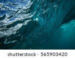 ocean wave underwater view to...   Shutterstock . vector #565903420