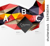 colorful triangle mosaic 3d... | Shutterstock .eps vector #565908544