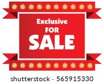 exclusive sale label or badge... | Shutterstock .eps vector #565915330