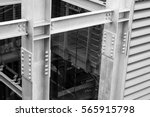 beam steel structure with bolts   Shutterstock . vector #565915798
