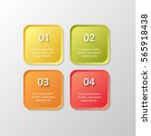 infographics step by step.... | Shutterstock .eps vector #565918438