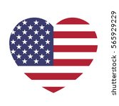 Usa Flag In The Heart. American ...