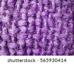 Old Wicker Straw   Purple...