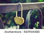 Golden Wedding Lock On Iron...
