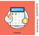 budget vector icon | Shutterstock .eps vector #565935070