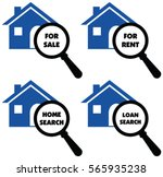 vector signs of search home ... | Shutterstock .eps vector #565935238