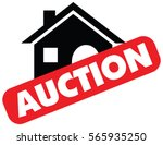 vector auction icon with a red... | Shutterstock .eps vector #565935250