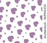 seamless hearts and dots... | Shutterstock .eps vector #565942153