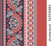 floral seamless pattern. ethnic ... | Shutterstock .eps vector #565950883