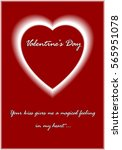 happy valentine's day  greeting ... | Shutterstock .eps vector #565951078