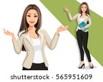 business women in presentation | Shutterstock .eps vector #565951609