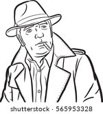 a mafia person comics styled.  | Shutterstock .eps vector #565953328