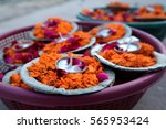 Flower Offerings On The Ghats ...