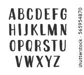 vector handwritten alphabet | Shutterstock .eps vector #565954870