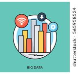 big data vector icon | Shutterstock .eps vector #565958524