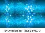 future technology  blue cyber...   Shutterstock .eps vector #565959670