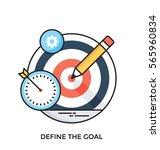 define the goal vector icon | Shutterstock .eps vector #565960834