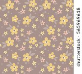 floral pattern. vector seamless ... | Shutterstock .eps vector #565969618