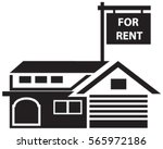 concept of house for rent in... | Shutterstock .eps vector #565972186