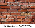 old grunge red brick wall... | Shutterstock . vector #565976704