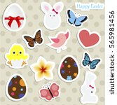 set of colored stickers for... | Shutterstock .eps vector #565981456