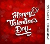happy valentines day... | Shutterstock .eps vector #565989433