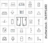 curtain icon vector  furniture... | Shutterstock .eps vector #565991680