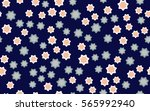 seamless texture of chaotic... | Shutterstock .eps vector #565992940