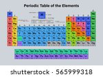 periodic table of the elements... | Shutterstock .eps vector #565999318